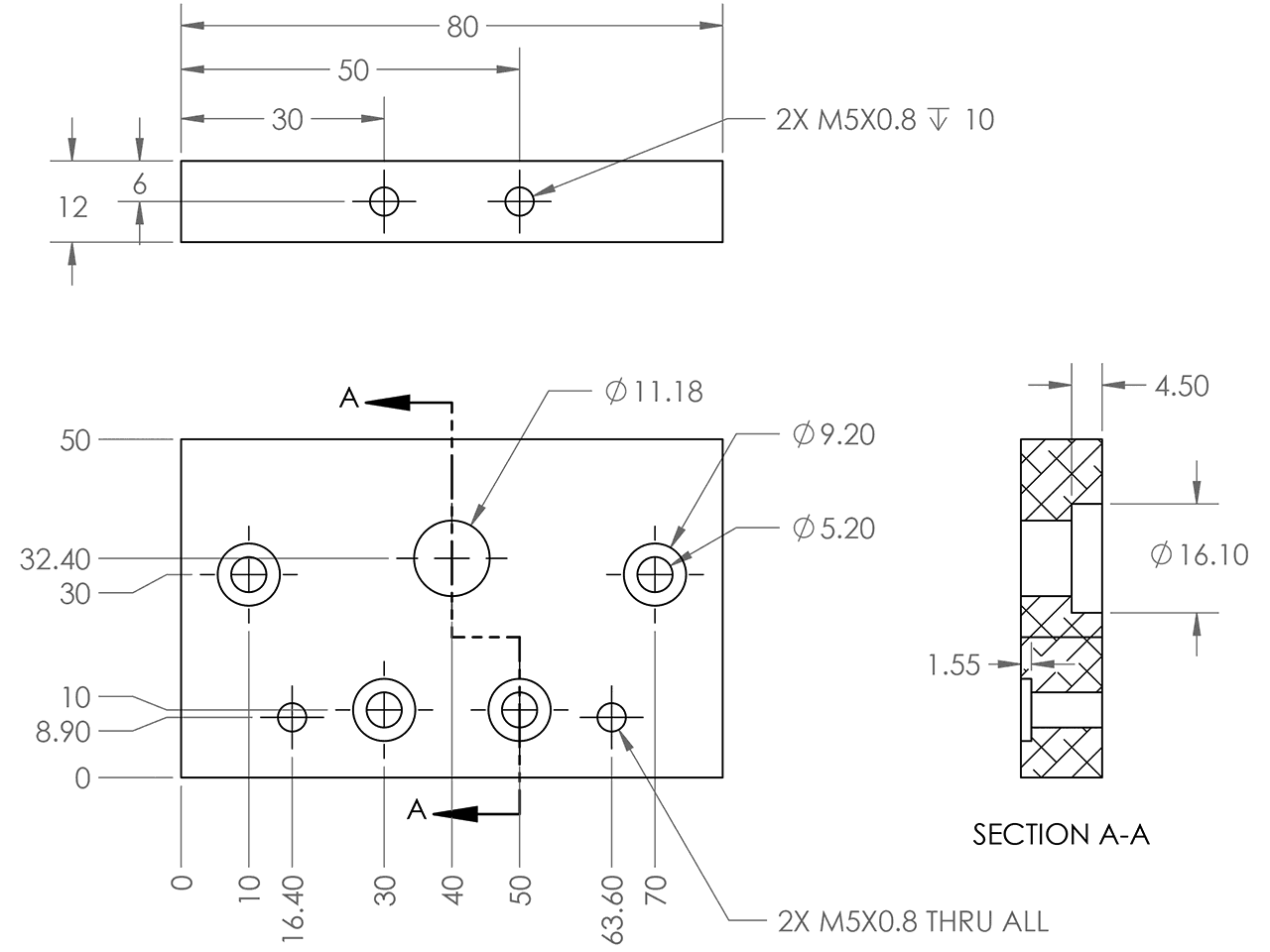 Placa final guía lineal C-Beam CI-Beam / C-Beam end mount, OpenBuilds Mexico